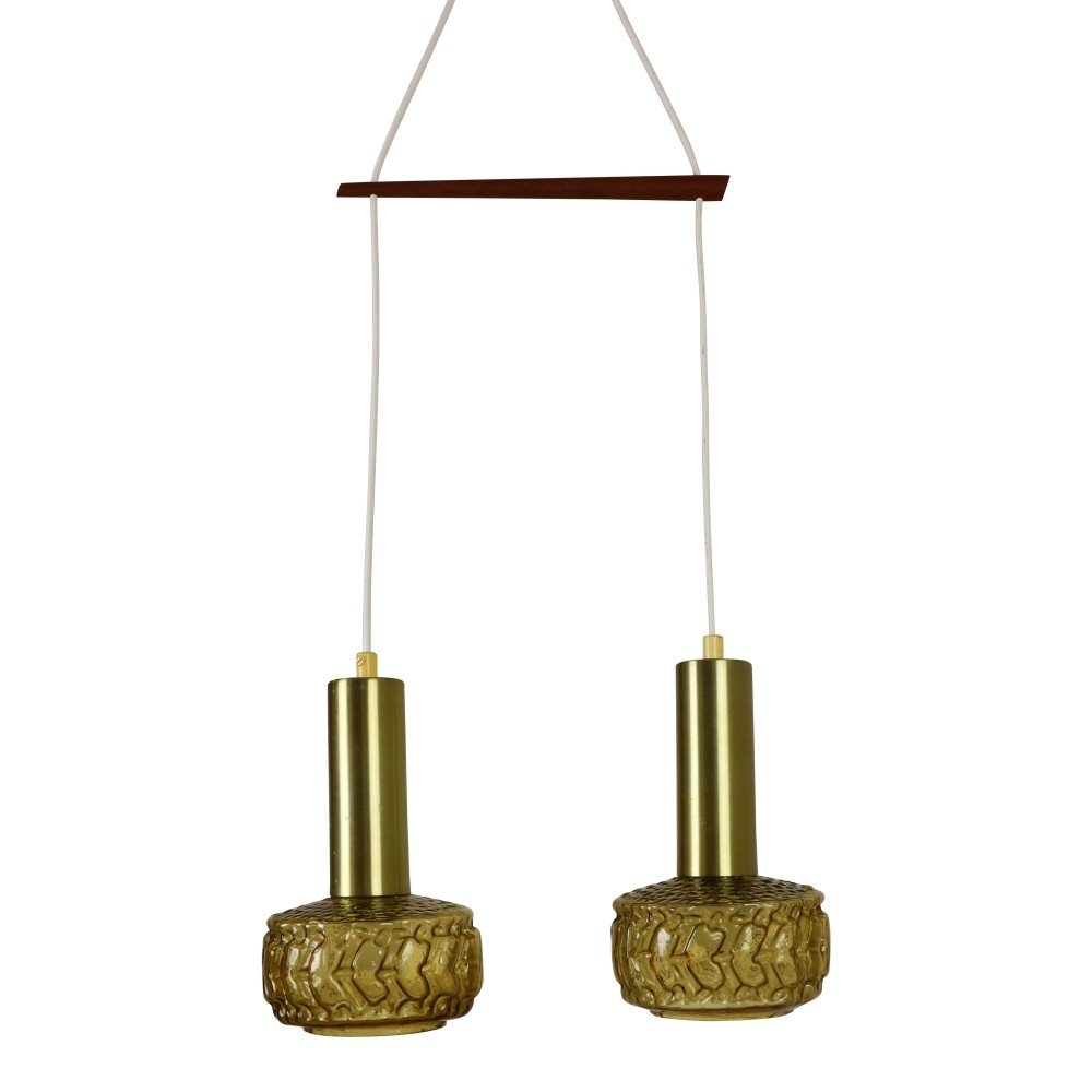 Double fixture pendant light, 1960s