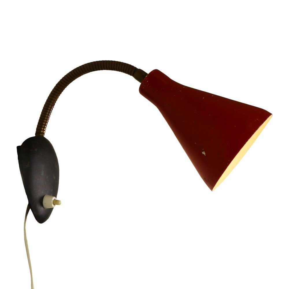 Red and black wall light, 1950s