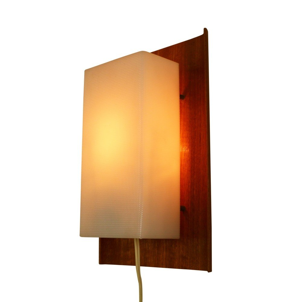 Wall Lights Made From Wood : Scandinavian wall light from the sixties made of wood and plastic #1074