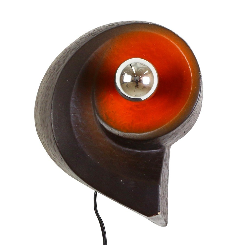 Organic shaped ceramic wall light, 1970s