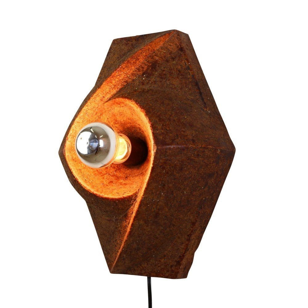 Sculptural Ceramic wall light, 1970s