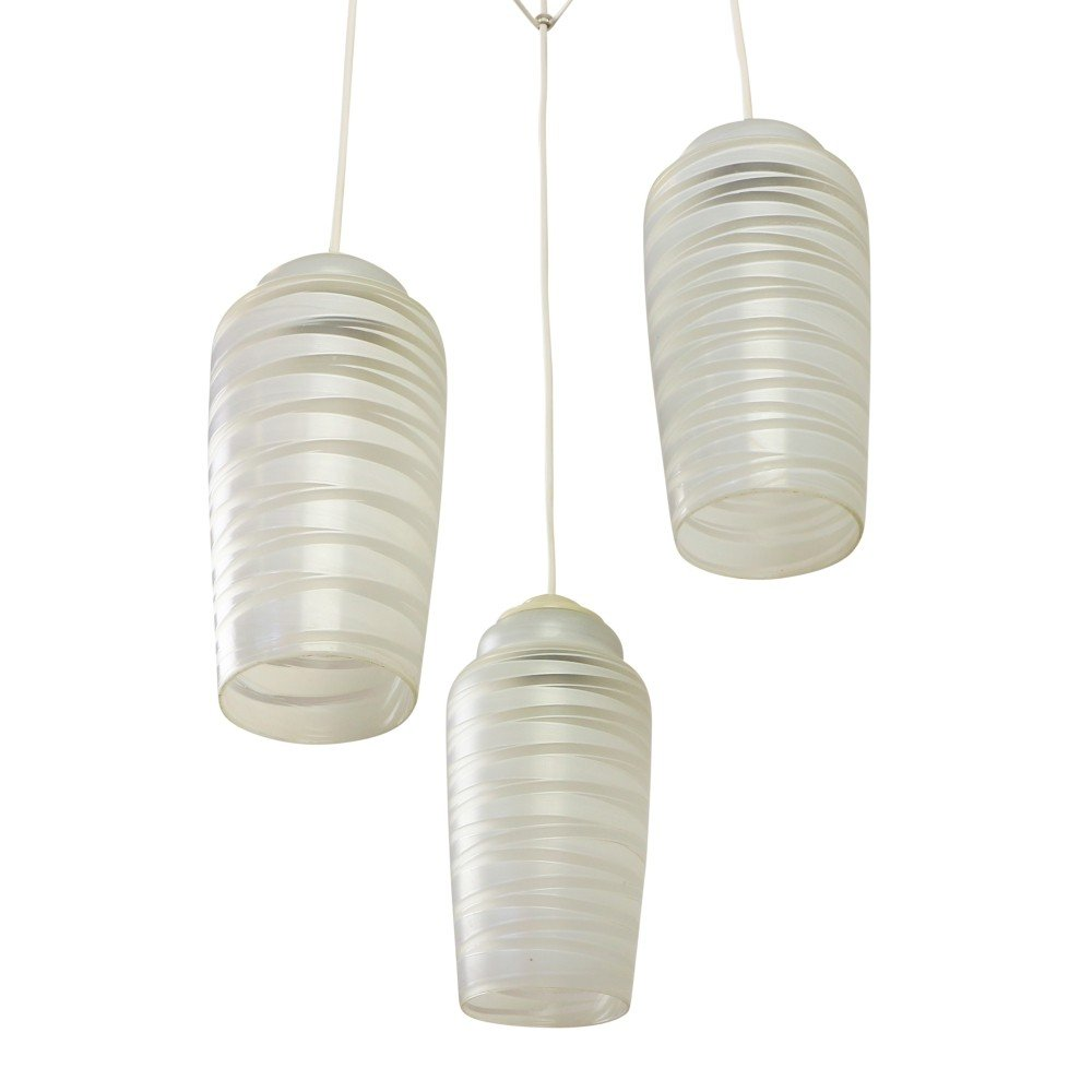 Tri cone pendant hanging light, 1960s
