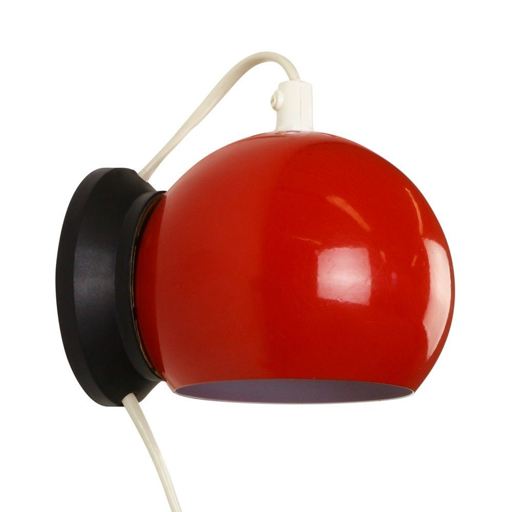 Red Ny-Mag Magnet wall light by Abo Randers, 1970s