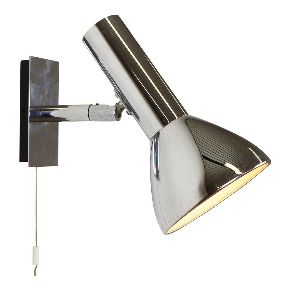 Chromed wall light by Hustadt Leuchten, 1970s
