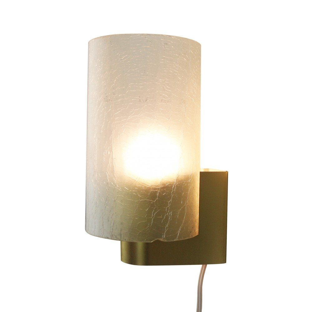 Modern wall light with frosted glass by Philips Holland, 1960s
