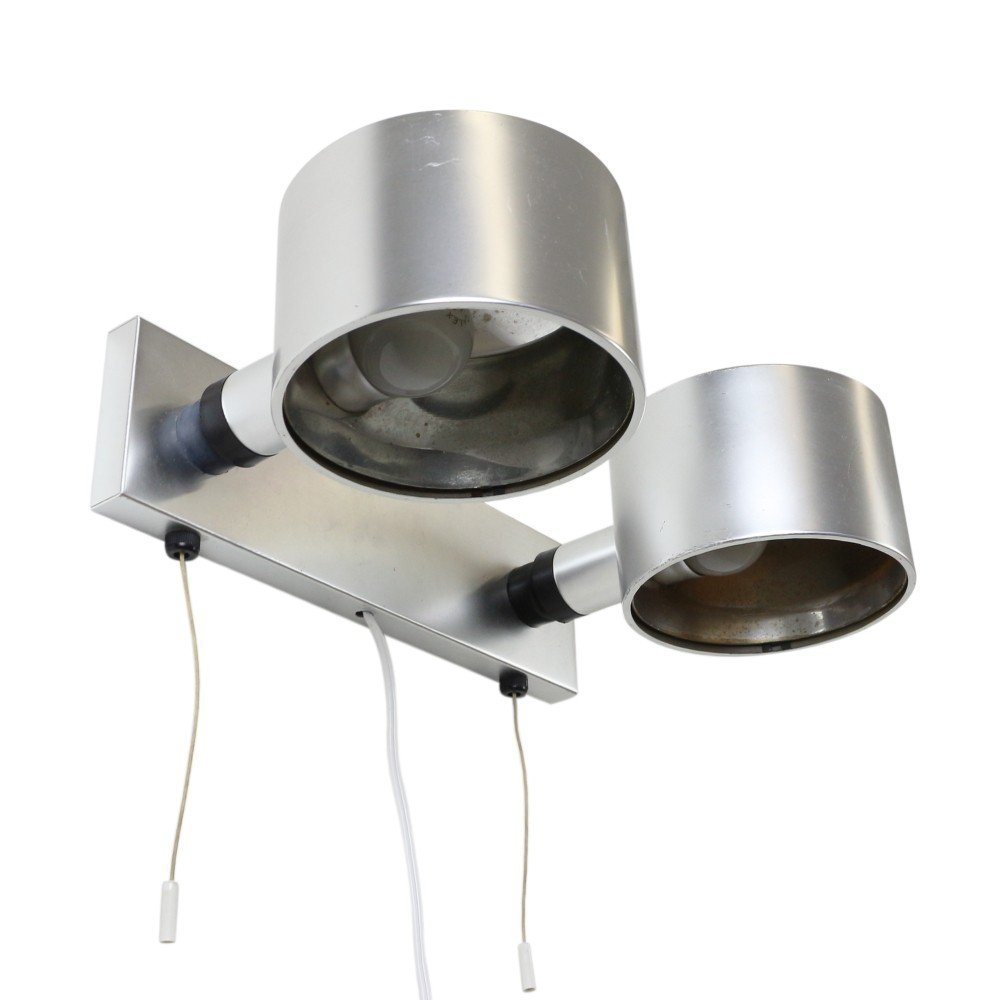 Quality dual spot wall light by Ronald Homes for Conelight Limited England, 1960s
