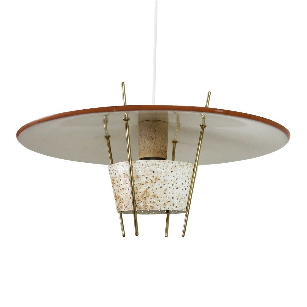 Rare Hillebrand pendant light by Ernest Igl, 1950s