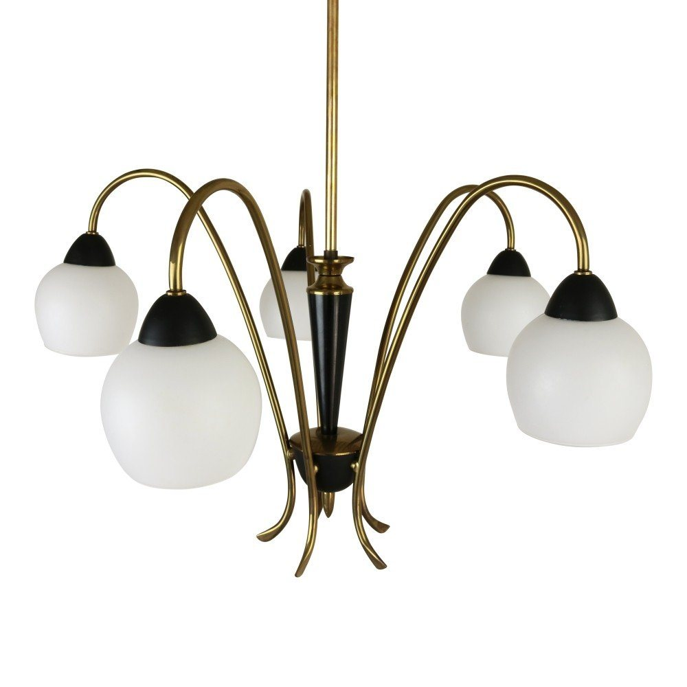Italian 5 light pendant chandelier, 1950s