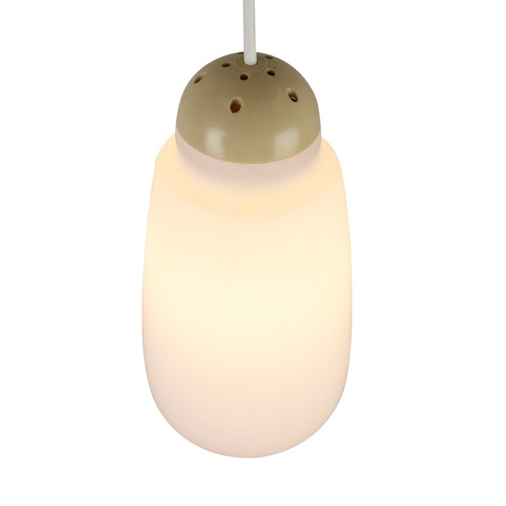 Milk glass pendant by Philips with a creme colored top, 1960s