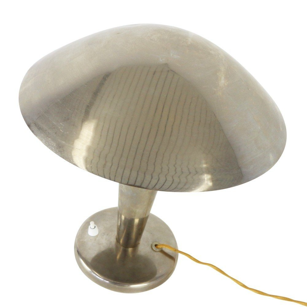 Chrome mushroom desk light by Josef Hurka for Napako, 1930s