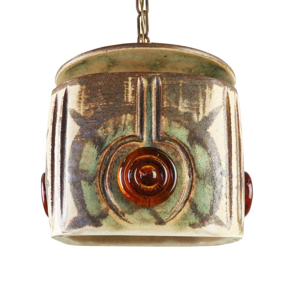 Ceramic pendant by Jette Hellerøe for Axella Denmark, 1960s