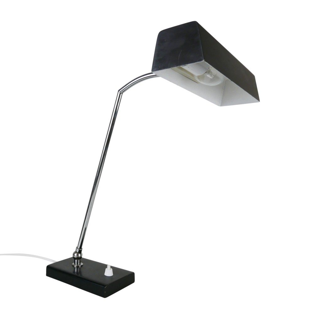 Modern black adjustable desk light, 1970s