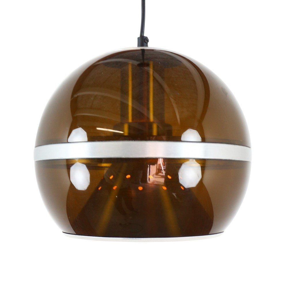 Space age plastic pendant light by Dijkstra Lampen