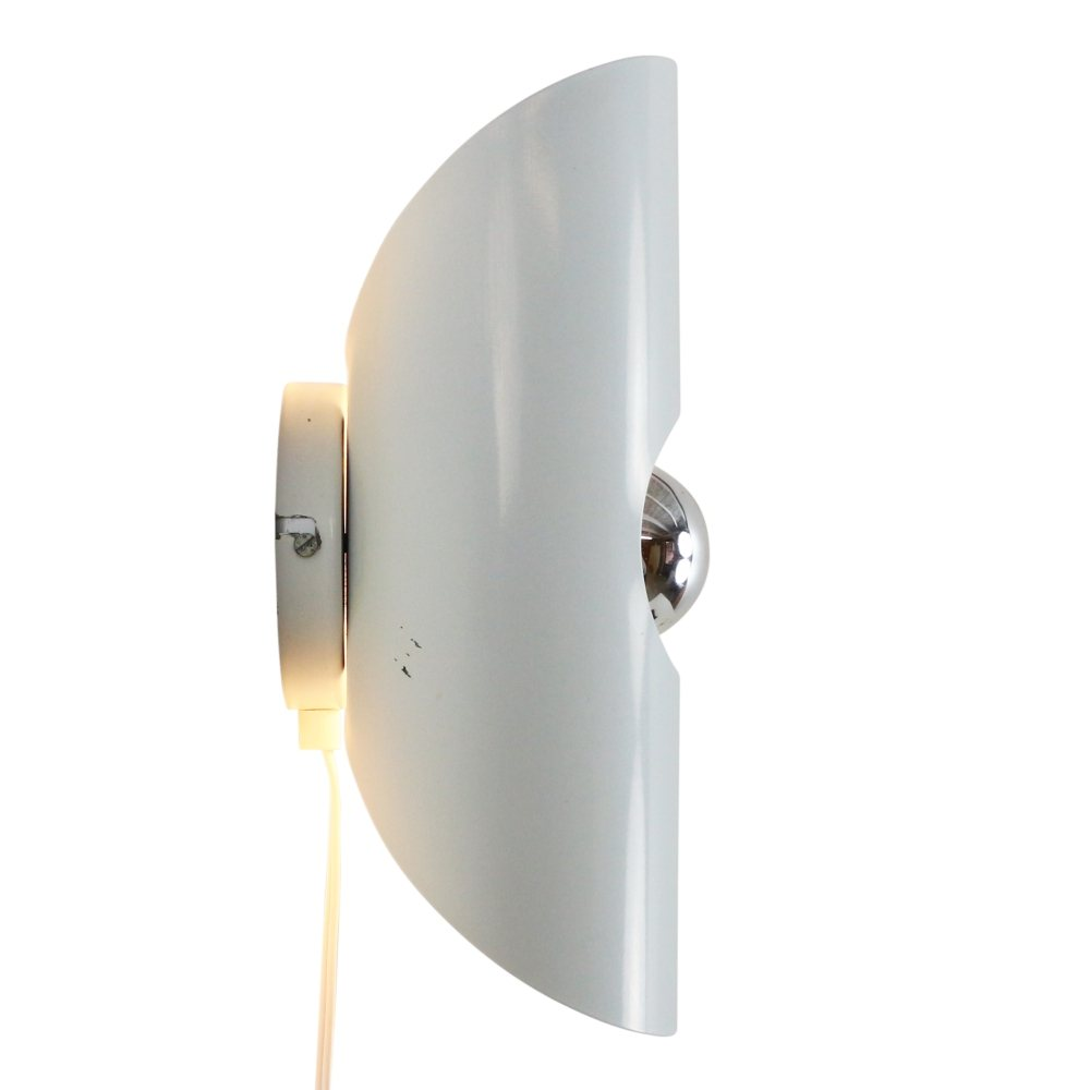 Vintage wall light in white metal, 1970s