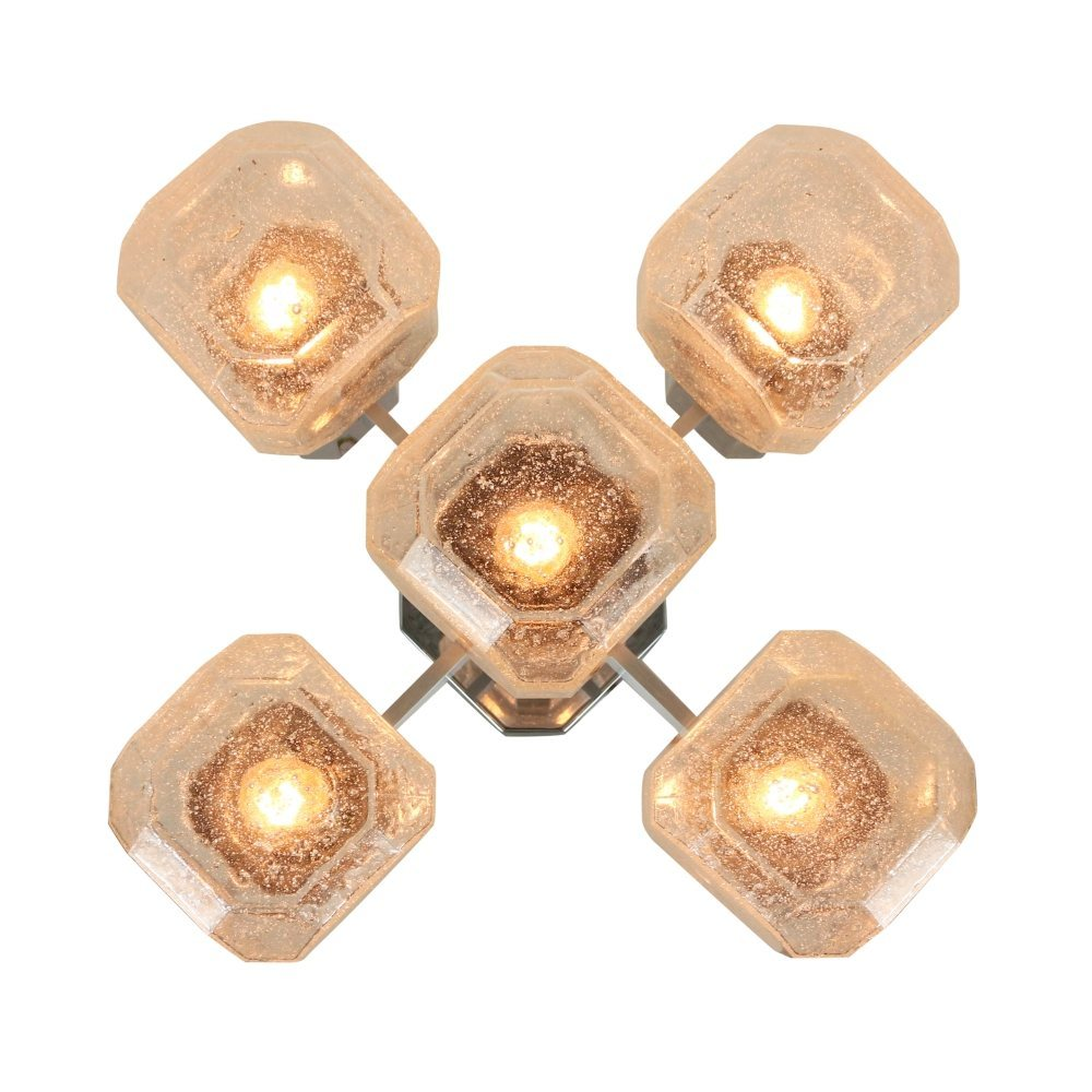 Impressive chandelier ceiling light by Cosack Leuchten, Germany 1960s
