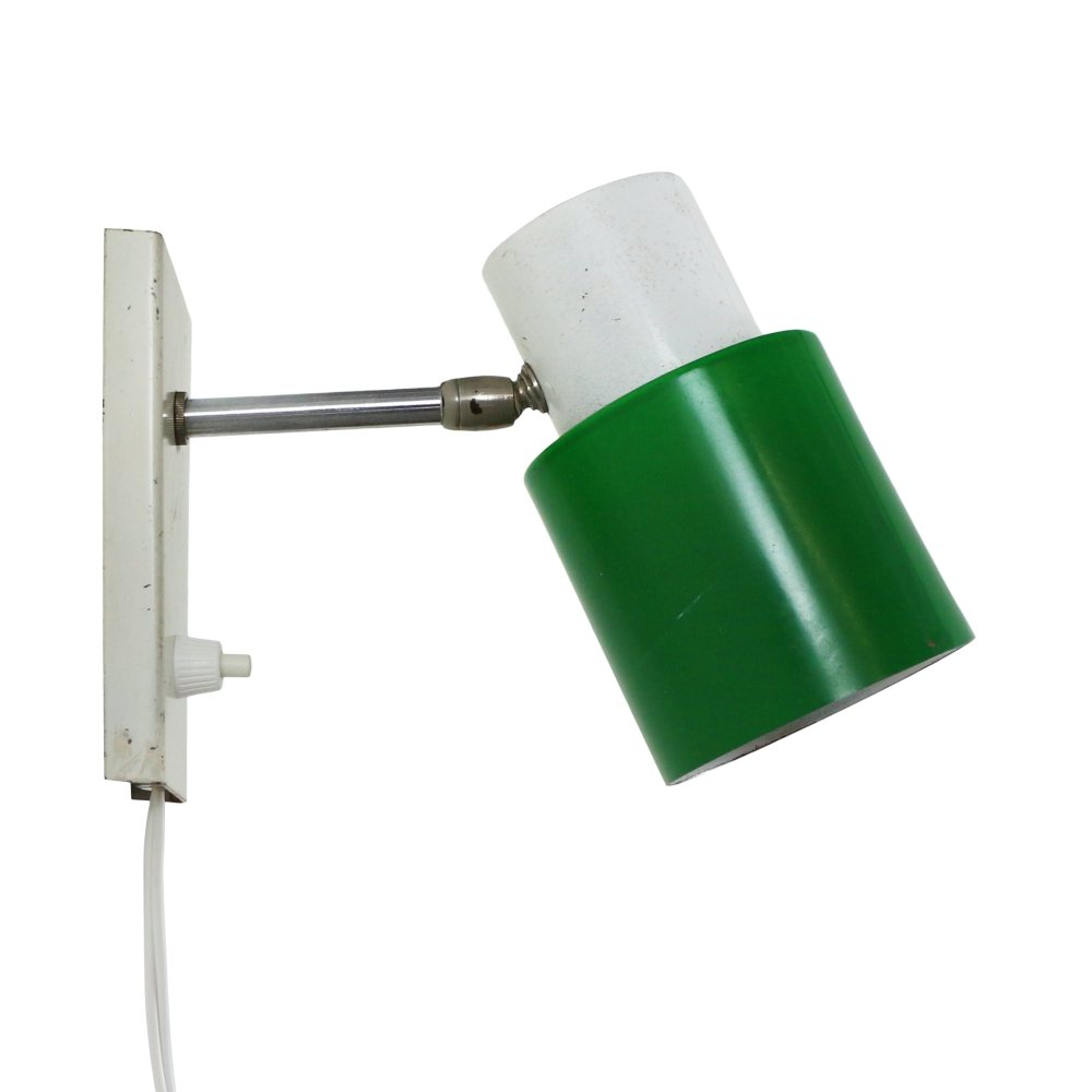 Vintage Green / White wall light by Hala Zeist, 1970s