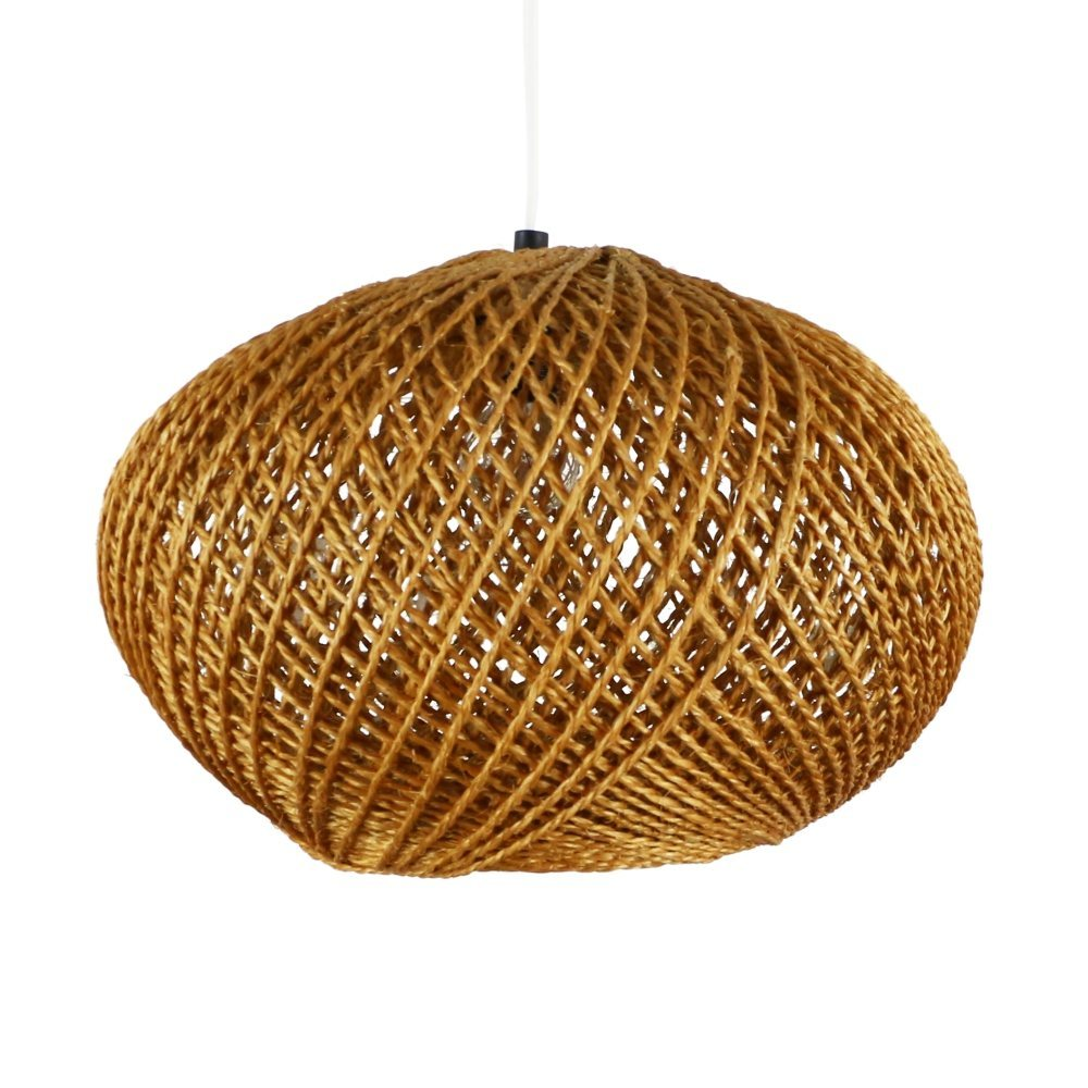 Rope pendant lamp, 1970s