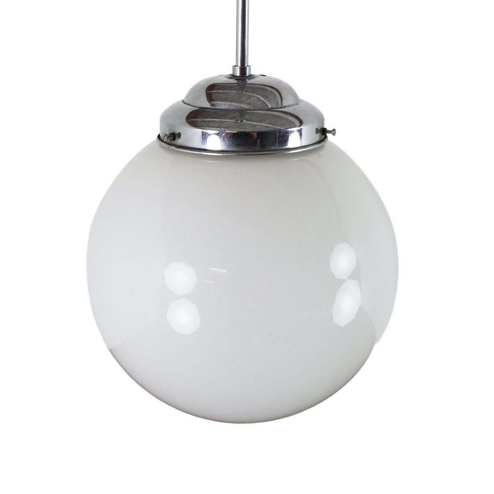 Art deco globe pendant light, 1950s