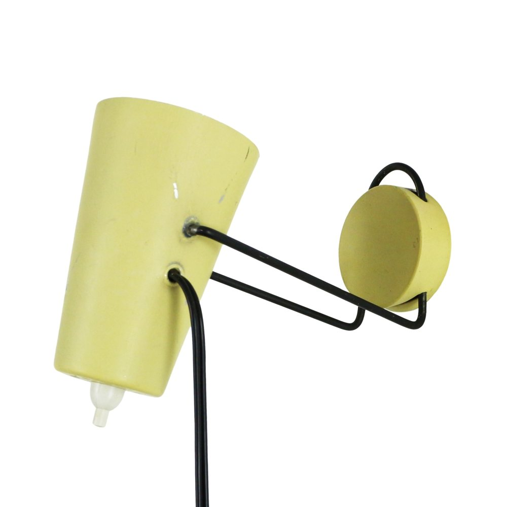 Small yellow wall light, 1950s