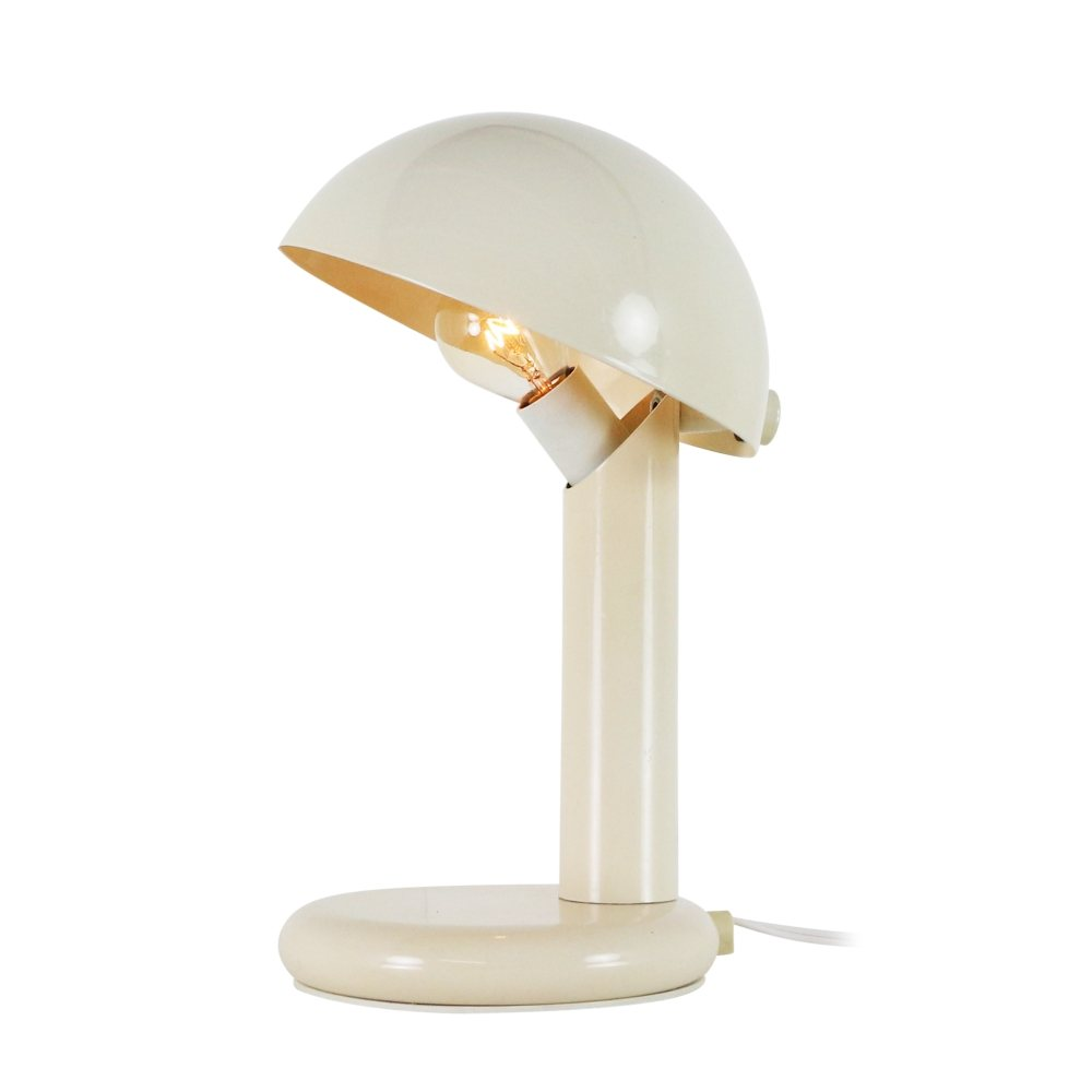 Cream white adjustable metal desk light, 1970s