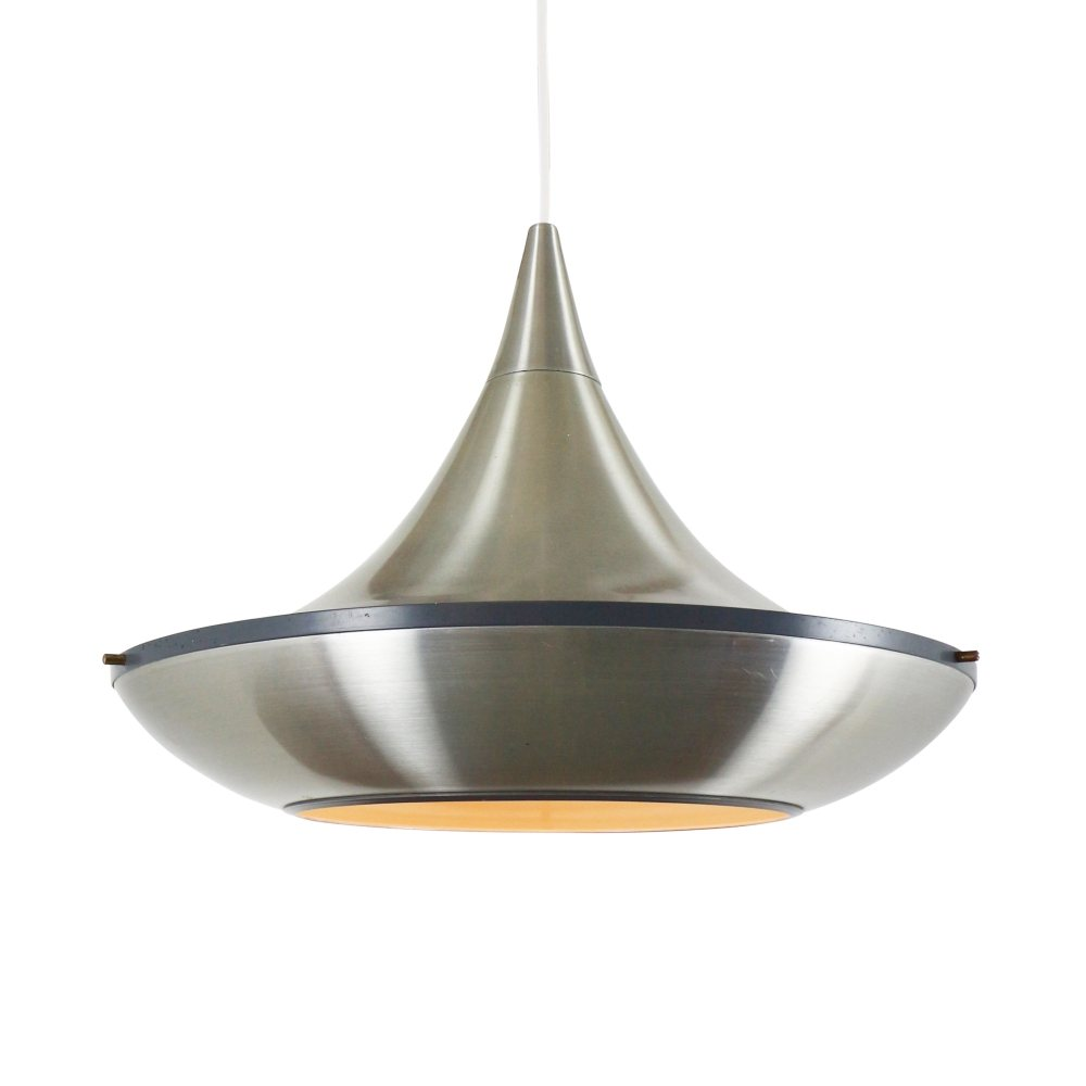 Space age aluminium pendant light, 1960s