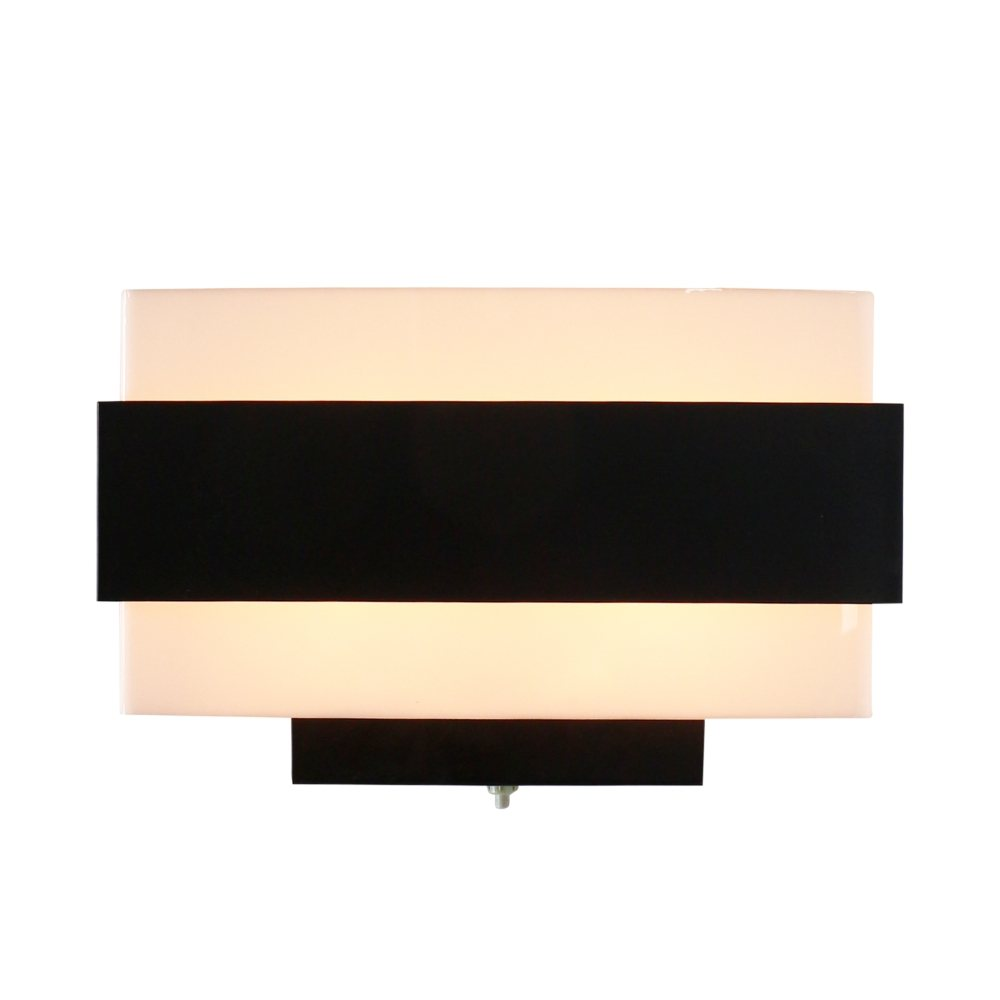 Minimalistic black and white NX 164 wall light by Philips, 1960s