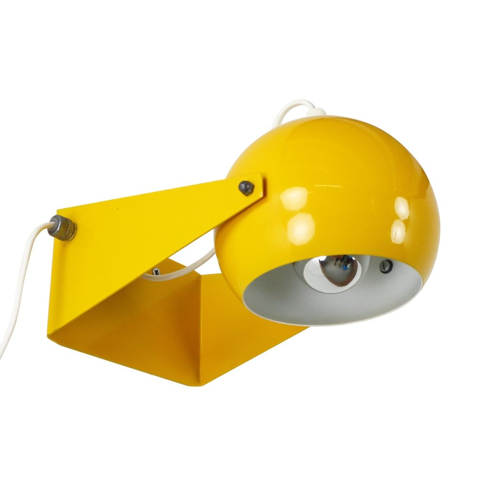 Bright yellow wall / desk light, 1970s