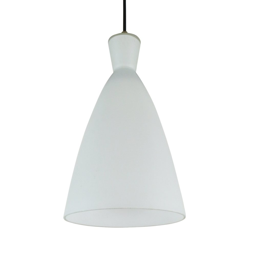 White opaline glass pendant light by Philips, 1960s