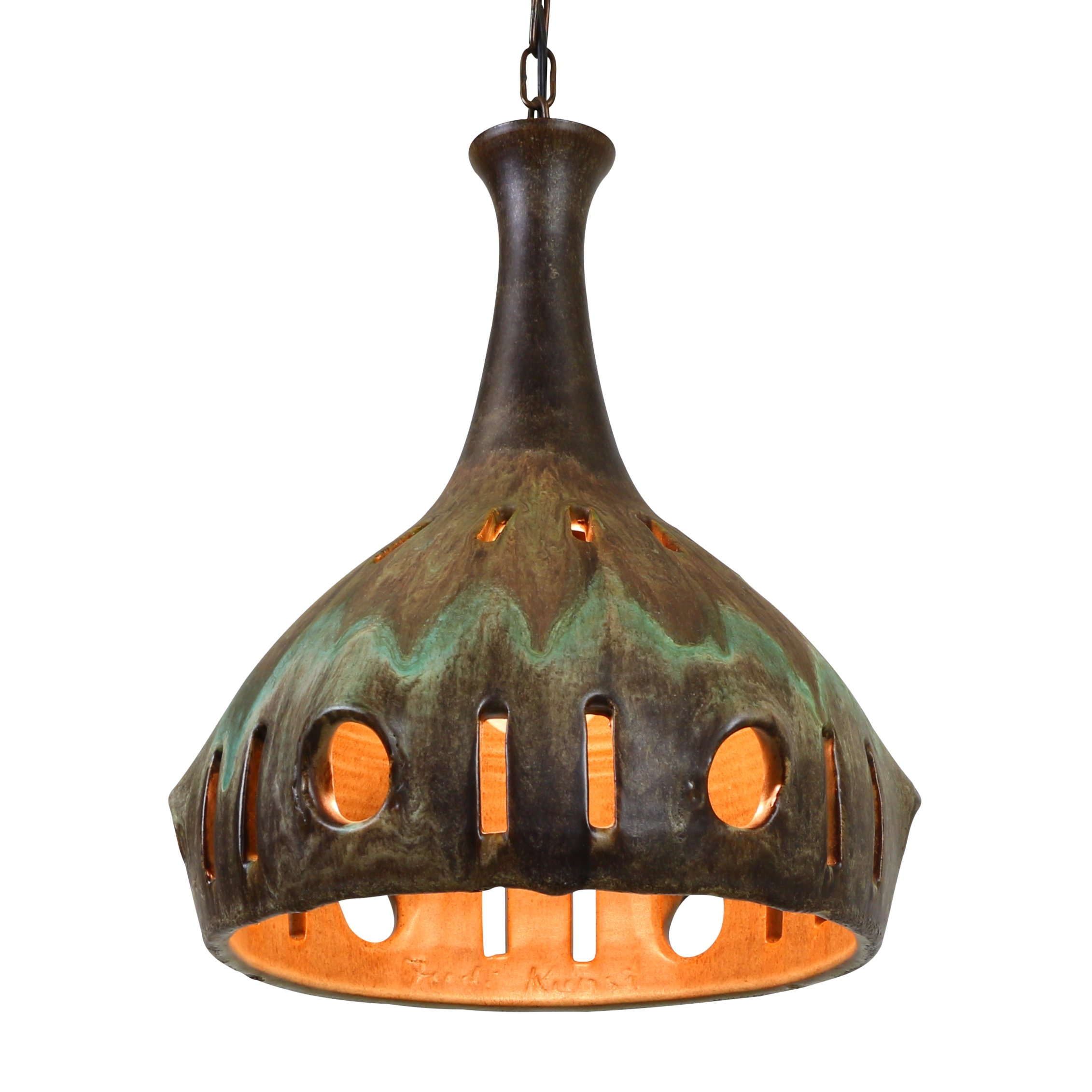 Handmade Ceramic Hanging Lamp From Scandinavia 1001