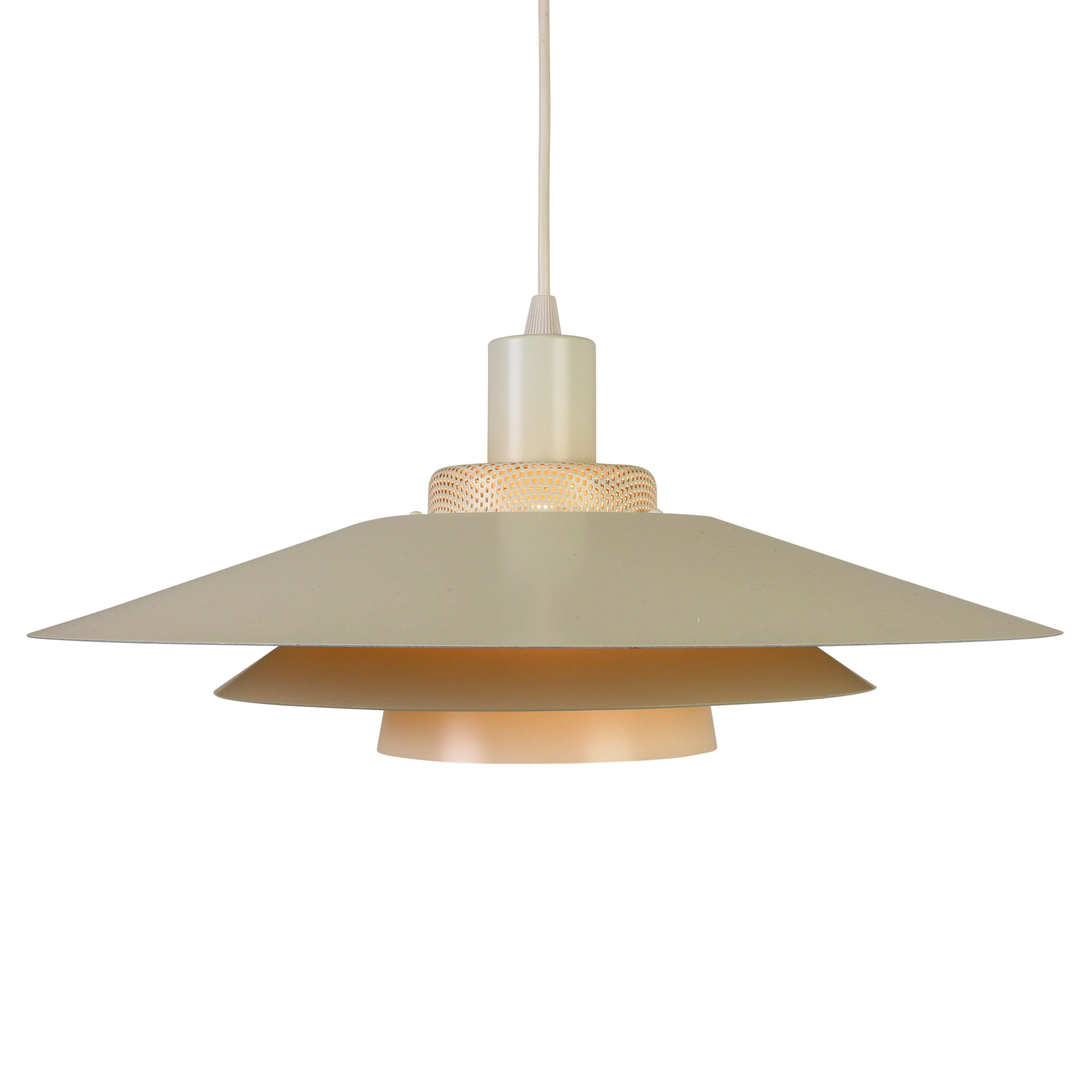 White Multilayer Pendant Hanging Lamp From Scandinavia