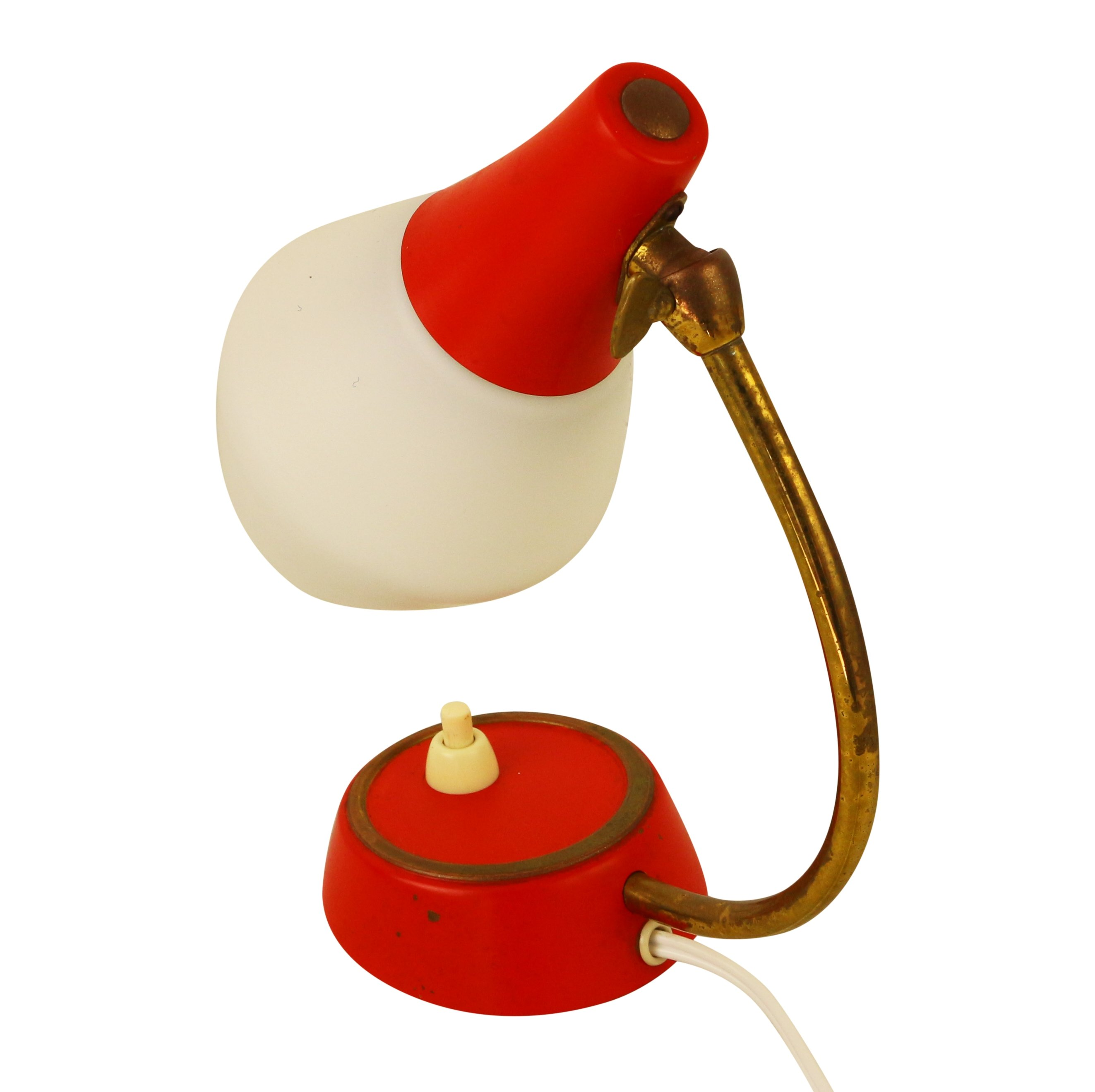 Small Red Table Lamp, 1950s