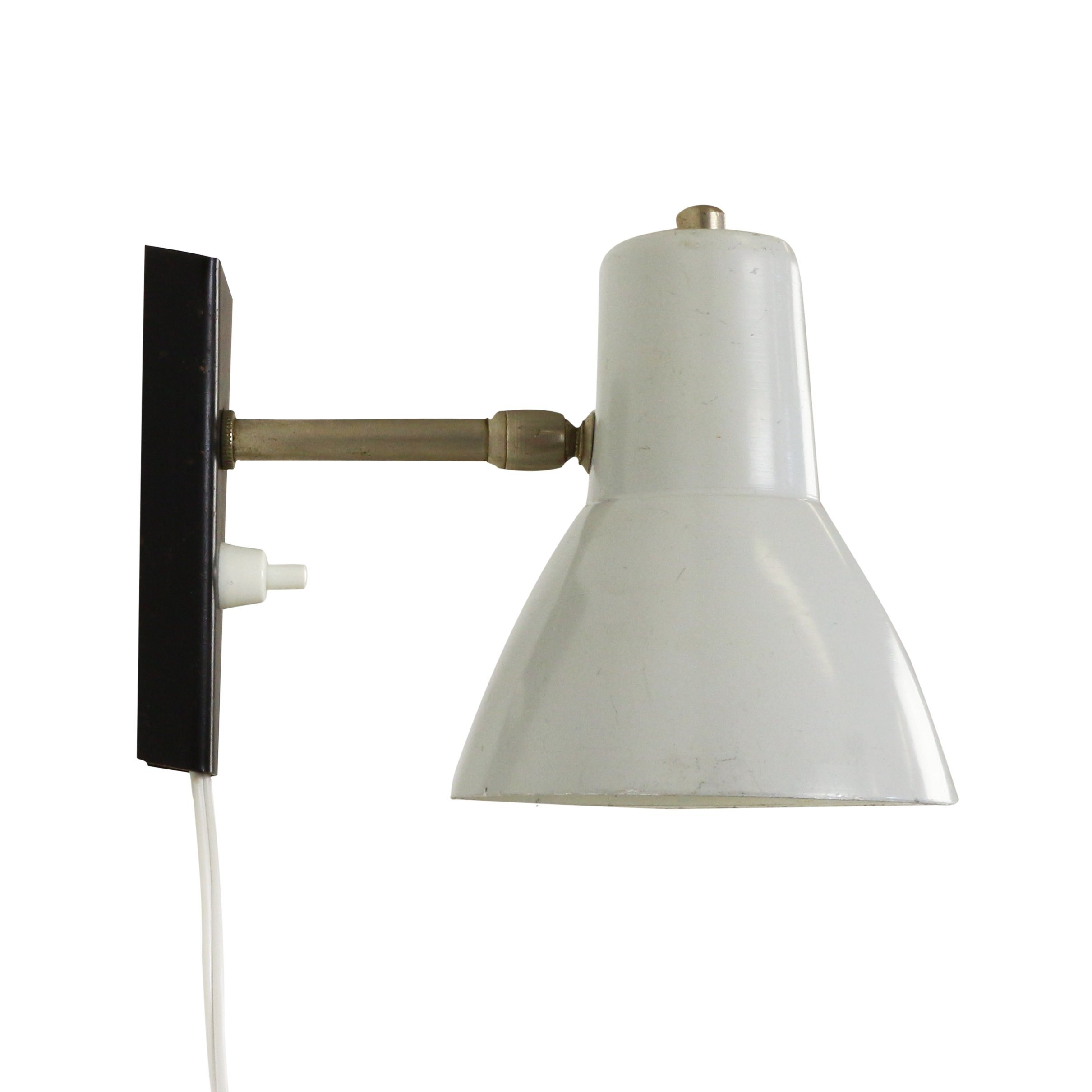Vintage Grey Wall Lights : Small grey wall light, 1960s #1173