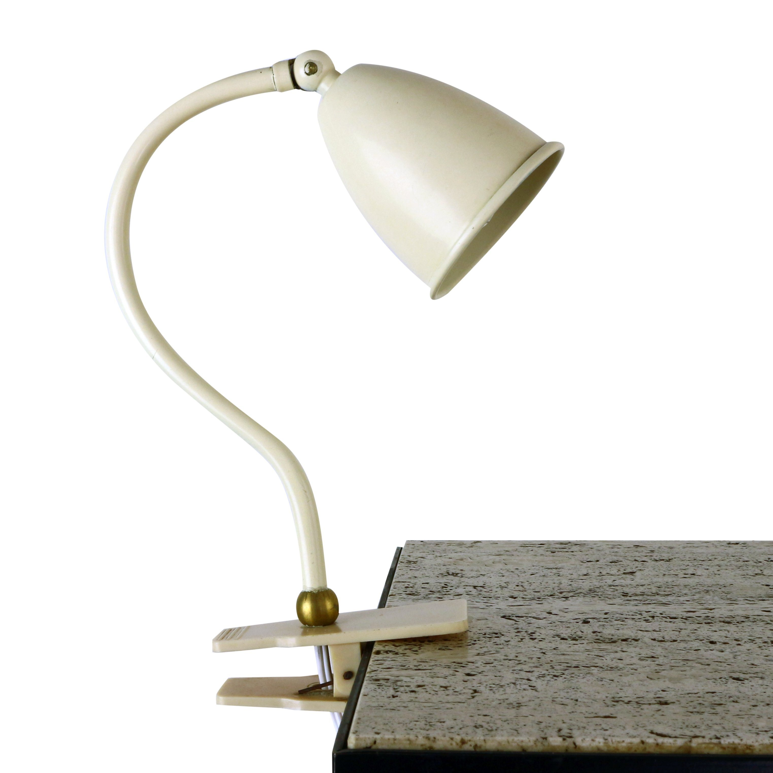 Small Metal Clamp Desk Light 1950s