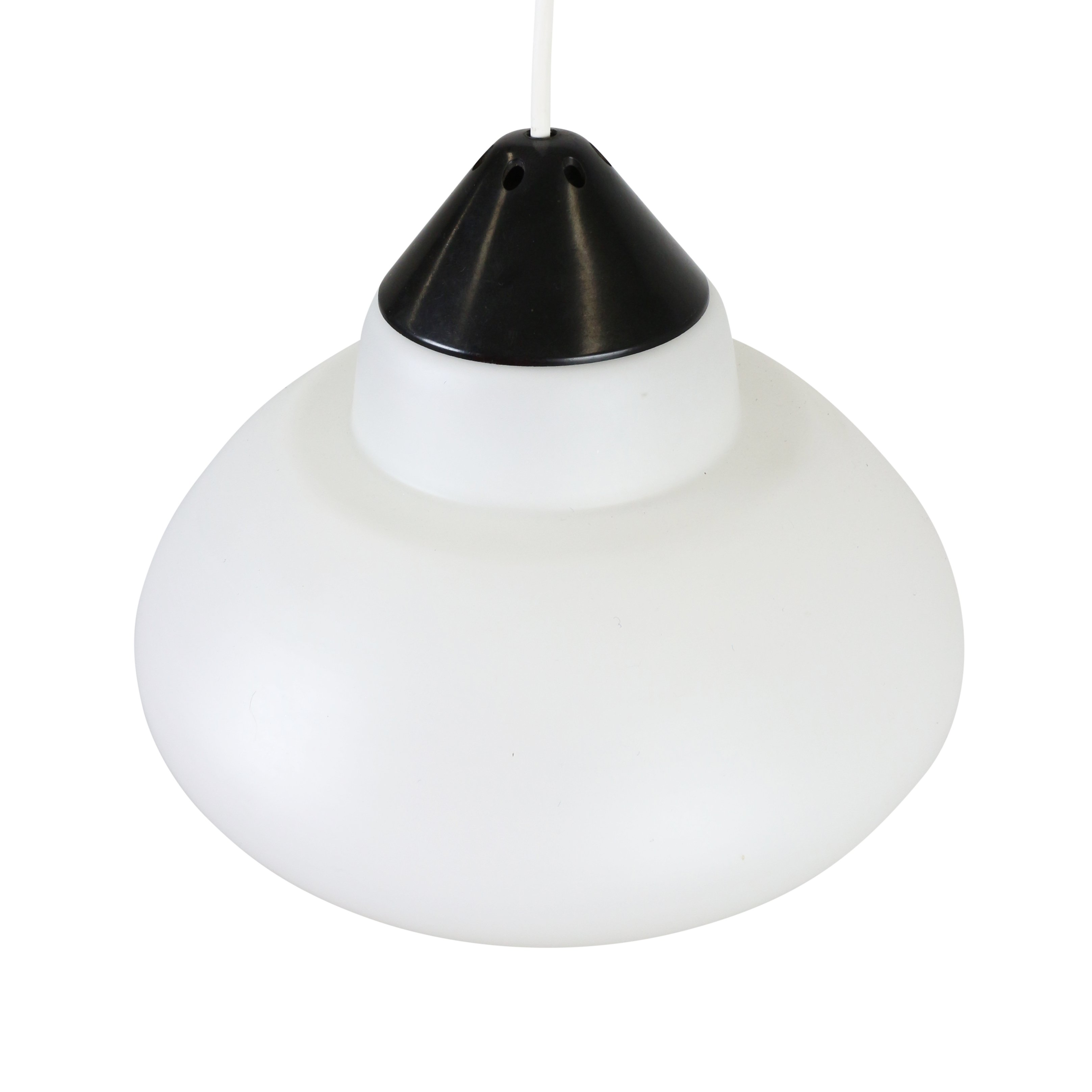 Black and white milk glass pendant by philips holland 1960s 1206 black and white milk glass pendant by philips holland 1960s mozeypictures Choice Image