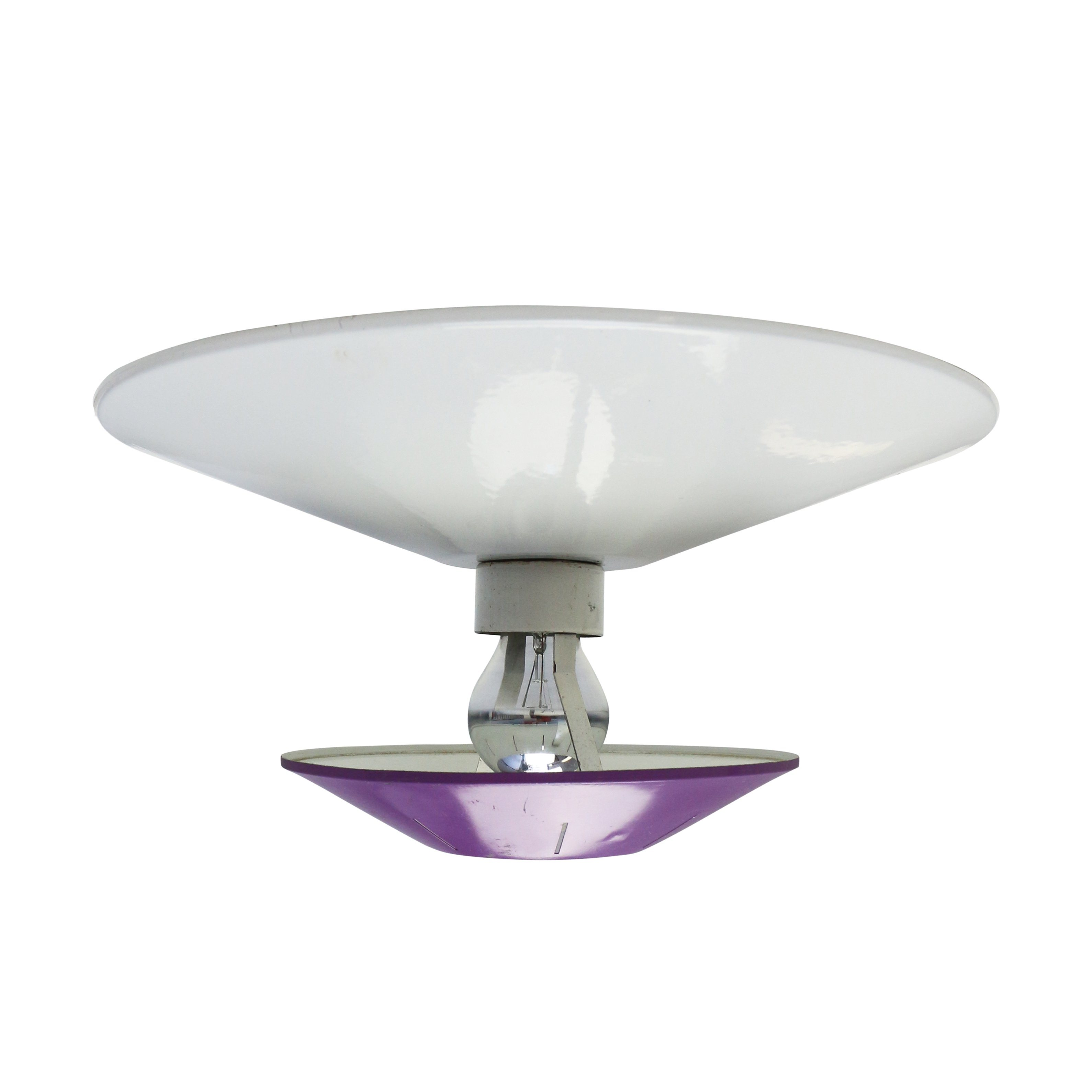 Purple Space age wall / ceiling light by Louis Kalff for Philips ...