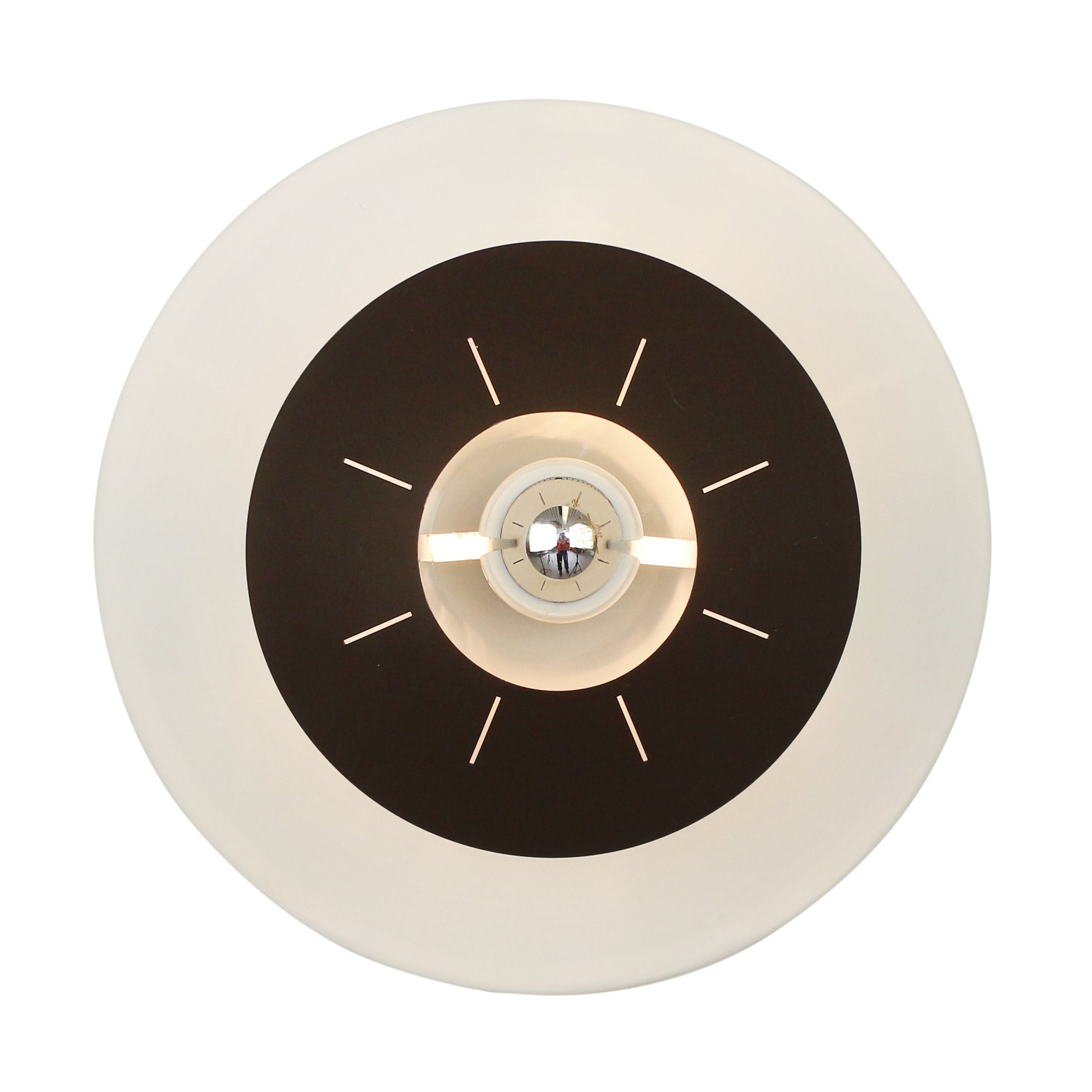 Dark Brown Space age wall / ceiling light by Louis Kalff for Philips, 1958 #1275