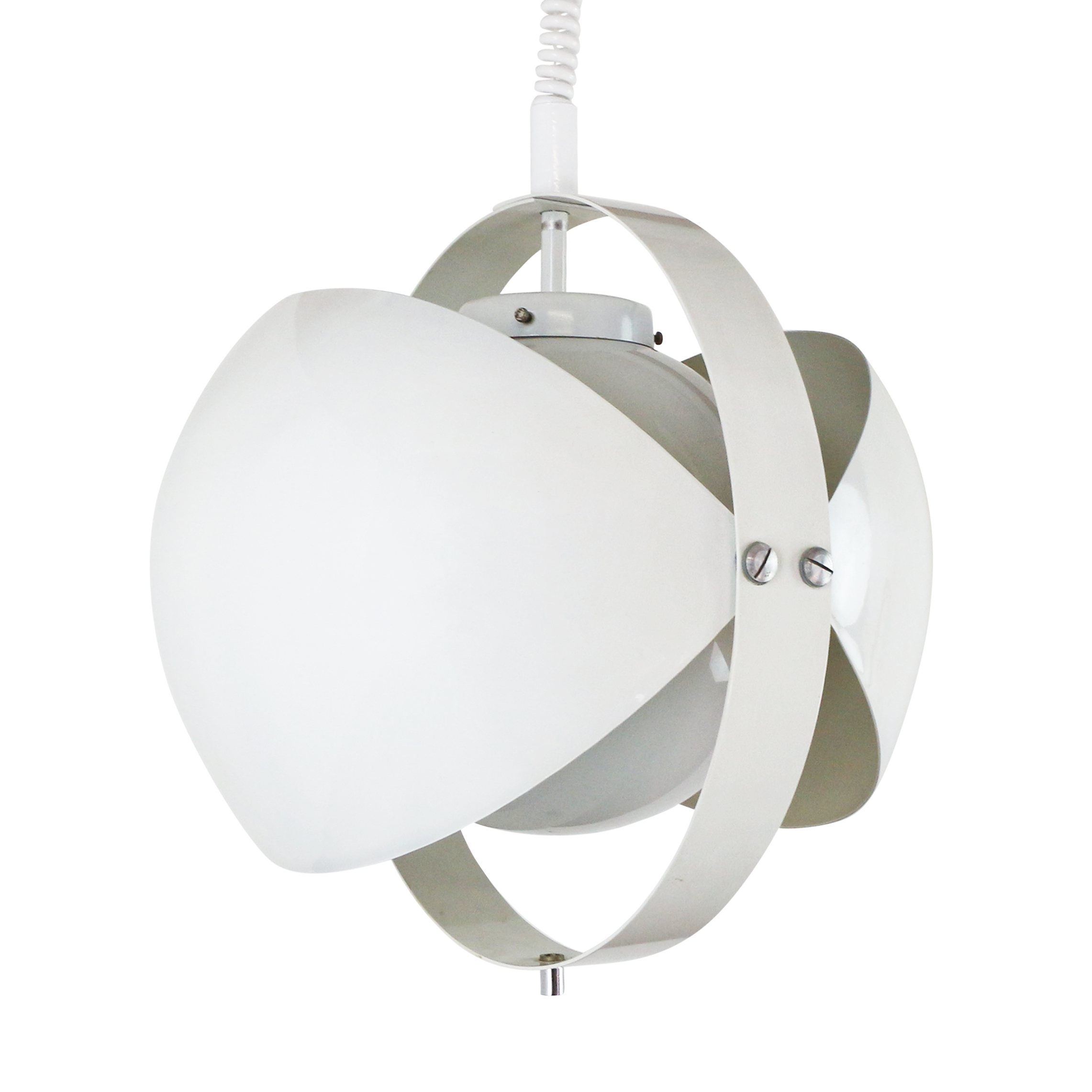 White Eclipse Pull Down Pendant By