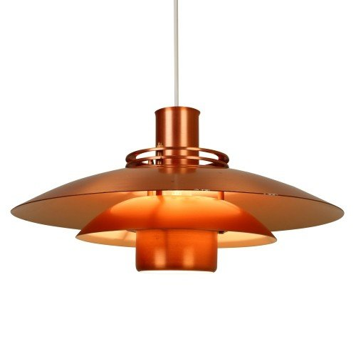 Multilayered Scandinavian pendant hanging lamp made of Copper
