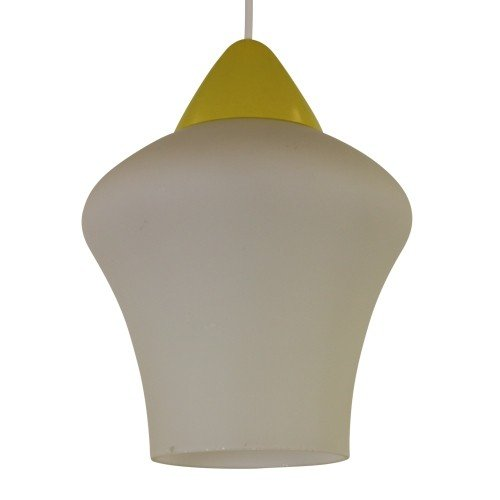 Milk glass pendant by Philips, 1950s