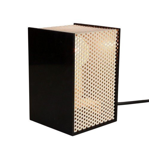 Black and White Raster Cube desk light by Woja Uithoorn, 1980s