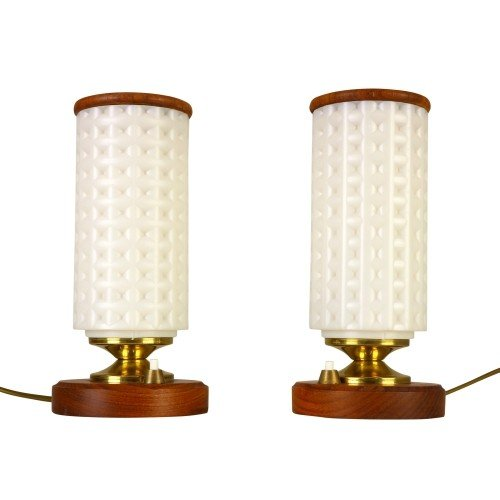Set of two Swedish bedside table lights from the sixties