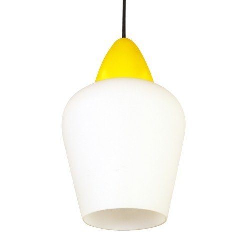 Milk glass pendant produced by Philips, 1950s