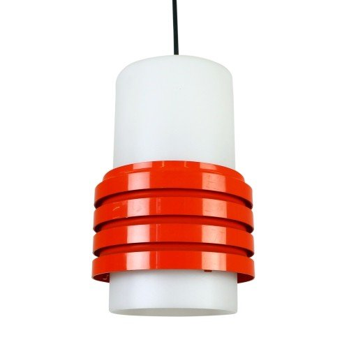 Red and white plastic light, 1970s