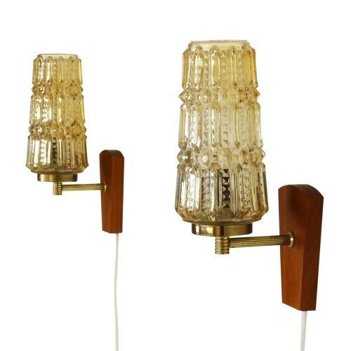 Set of two high quality wall lights from the sixties by Svend Mejlstrøm for MS Belysning Norway