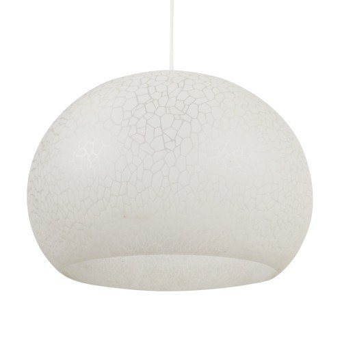 White plastic bubble hanging light, 1970s