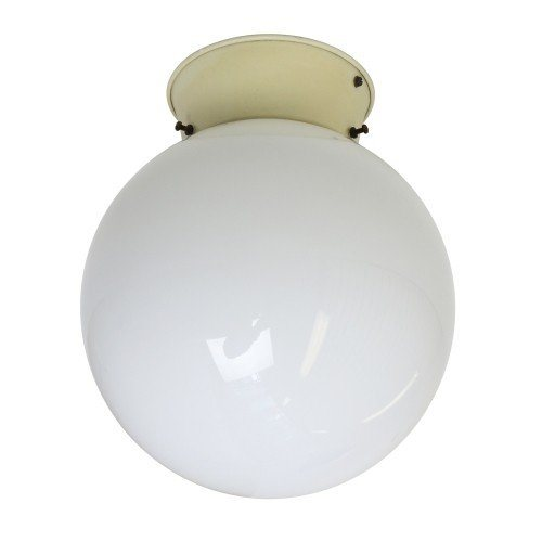 Opal glass globe ceiling light from the thirties