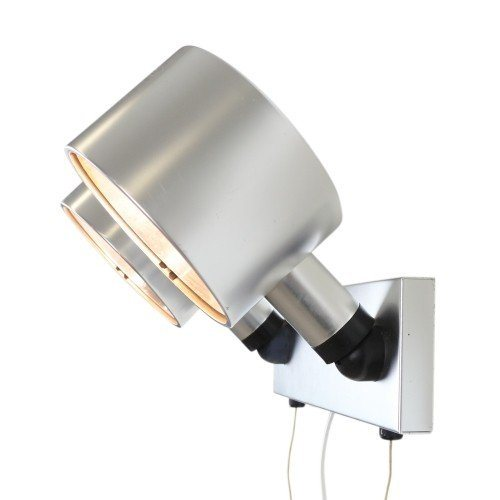 Quality dual spot wall light from the sixties made of aluminium