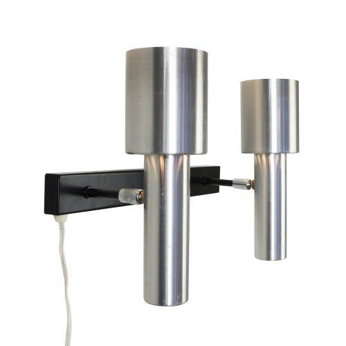 Modern design dual spot wall light made of aluminium, 1960s