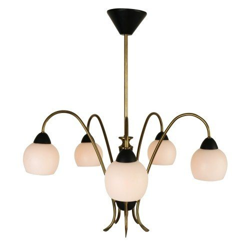 Italian 5 light pendant chandelier from the fifties