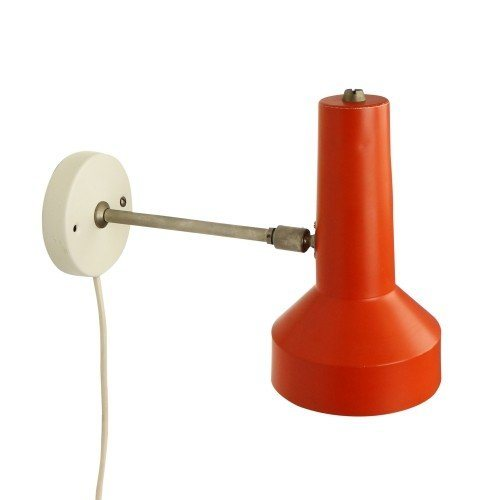 Dutch wall light in orange and white, 1960s